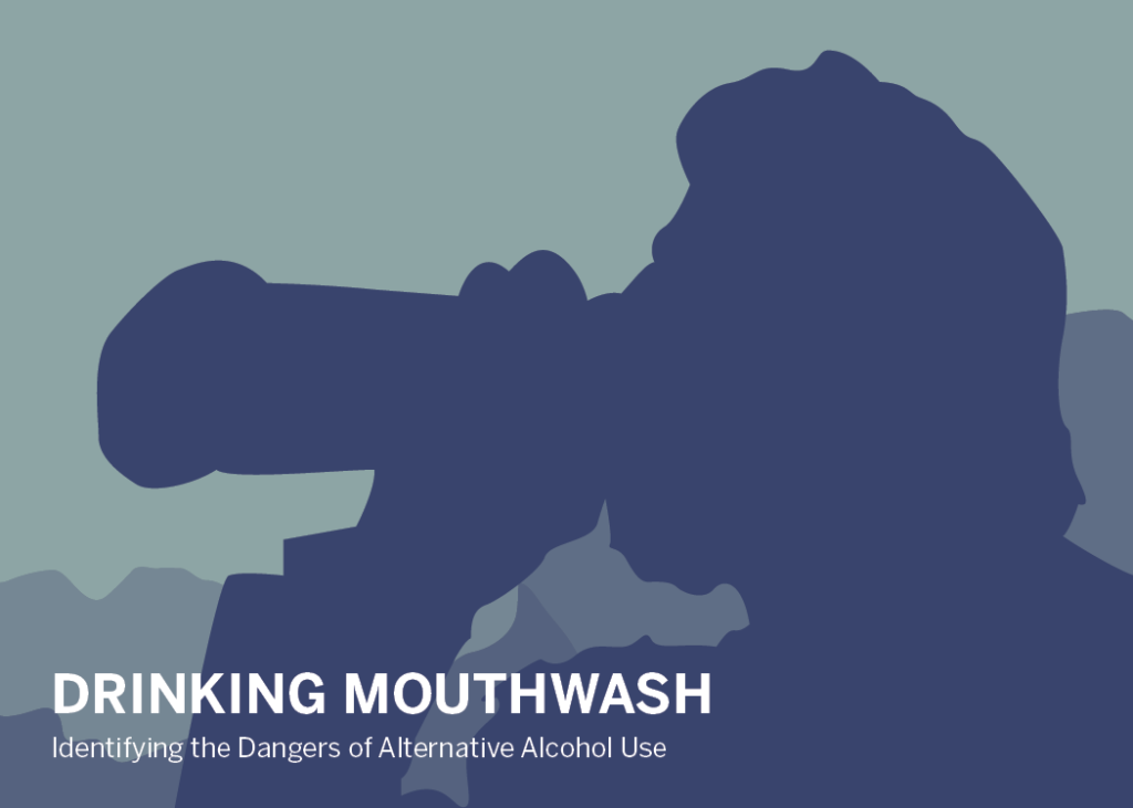 drinking mouthwash